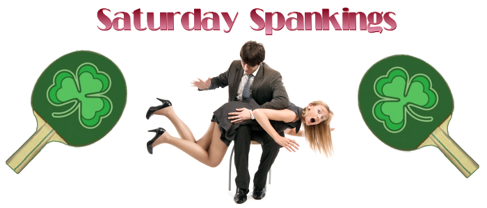 Saturday Spankings-Shamrock Paddles